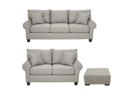 Mosaic 3 and 2 Seater Sofas and Coffee Table Ottoman Package