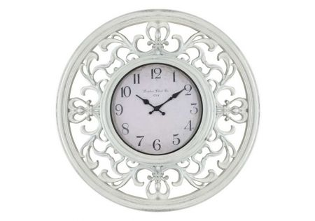 Ornate White Clock