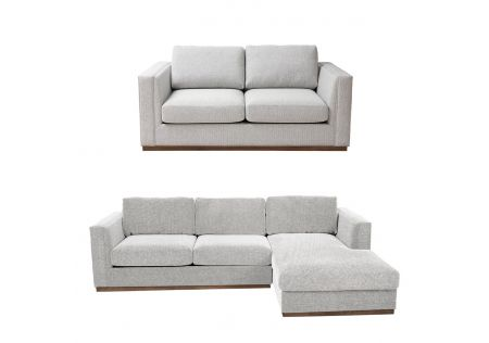 Sonoma 3 + 2 Seater Sofas Package - Light/Right