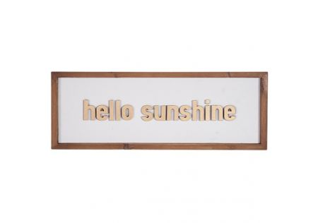 Wood Wall Sign - Hello Sunshine