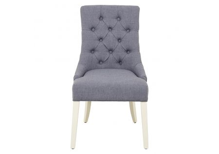 Gallery Dining Chair Grey with Ivory Legs
