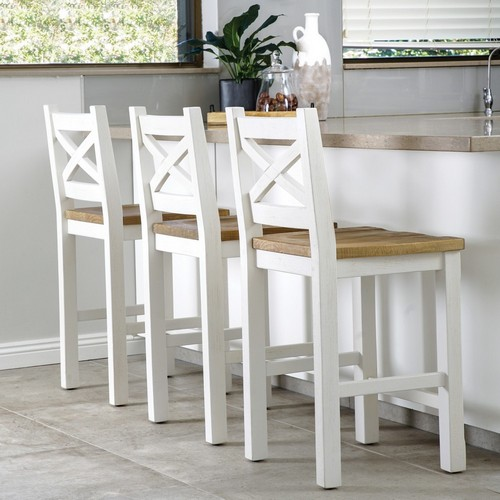 Ivory breakfast stools